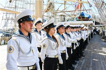 Cadets from Navigation Department of the Admiral Nevelskoy Maritime State University